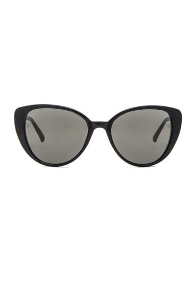 Linda Farrow Cat Eye Sunglasses in Black