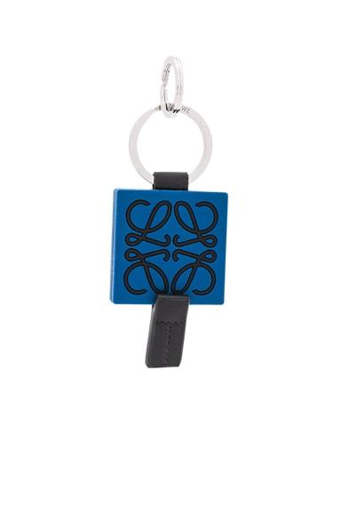 Loewe Anagram Keyring in Blue