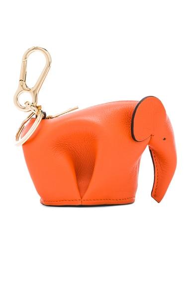 Loewe Elephant Charm in Orange