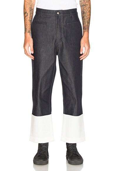 Loewe Fisherman Jeans in Navy Blue