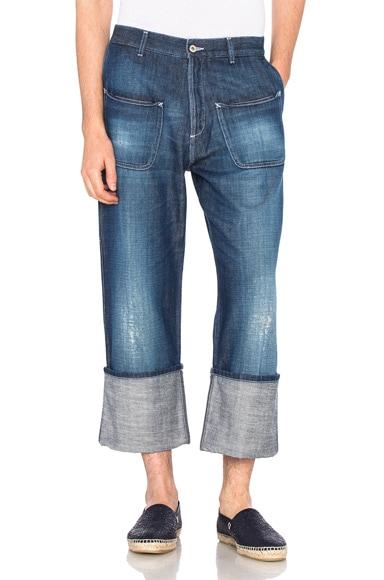 Loewe Patch Pocket Jeans in Indigo