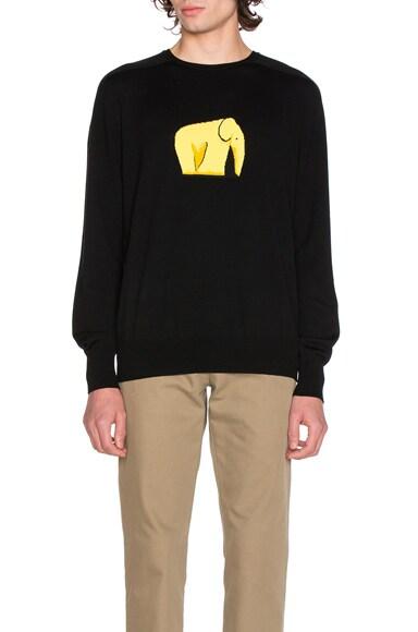 Loewe Elephant Sweater in Black