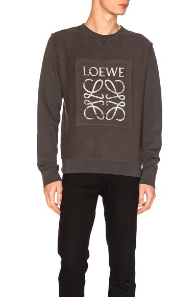 Loewe Anagram Sweatshirt in Anthracite