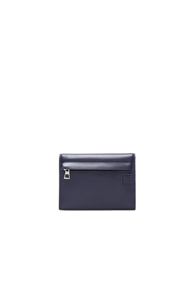 Loewe Triple Zip Wallet in Navy Blue