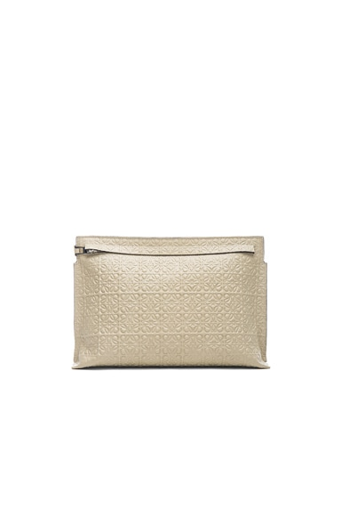 Loewe Large Pouch in Stone