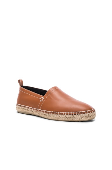Leather Anagram Espadrilles