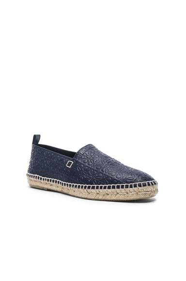 Anagram Embossed Leather Espadrilles