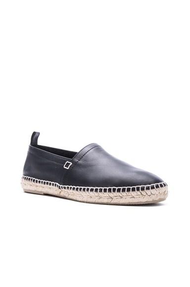 Loewe Leather Espadrilles in Black