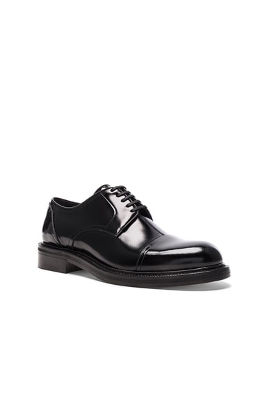 Loewe Leather Oxford Shoes in Black