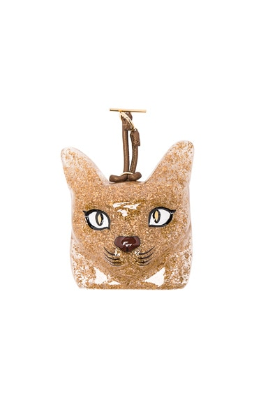 Loewe Cat Face Charm in Gold