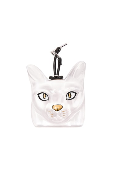 Loewe Cat Face Charm in Transparent