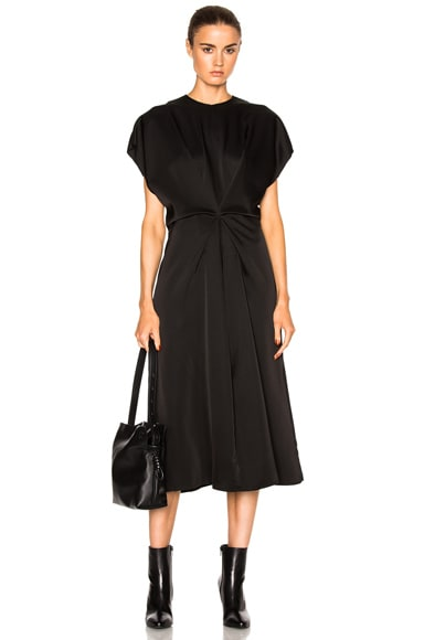 Loewe Satin Dress in Black