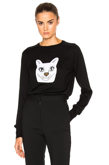 Loewe Cat Sweater in Black