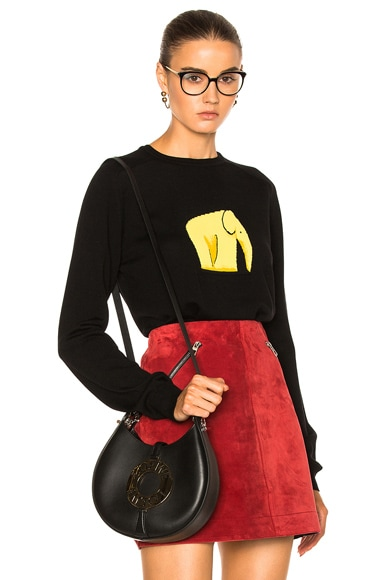 Loewe Elephant Jacquard Sweater in Black