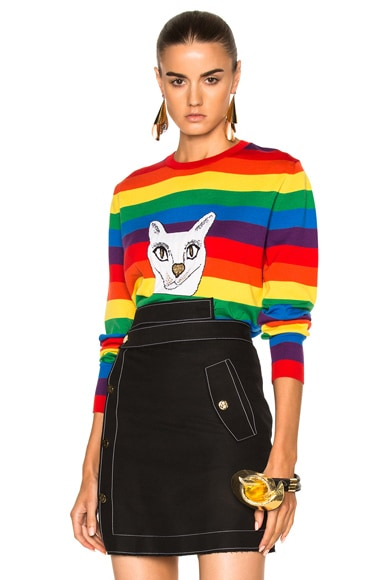 Loewe Rainbow Cat Sweater in Multicolor