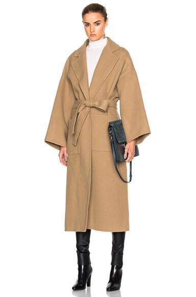 Loewe Coat in Camel