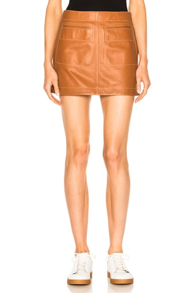 Loewe Mini Skirt in Tan