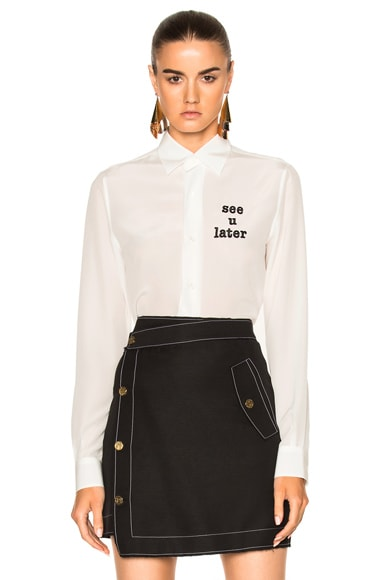 Loewe See You Later Shirt in White