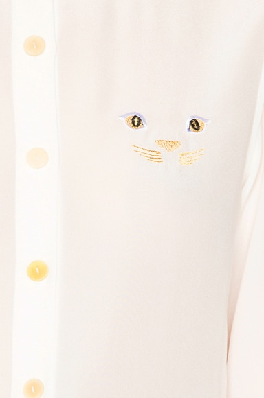 Cat Embroidery Top