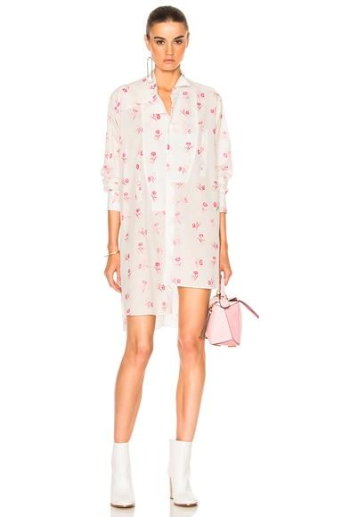 Loewe Asymmetric Shirt in Floral Print