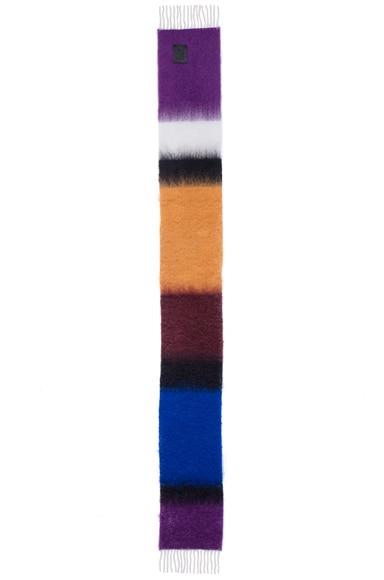Stripe Mohair Scarf