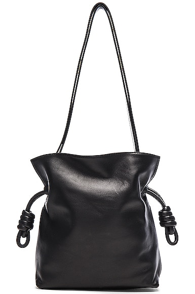 Loewe Flamenco Knot Bag in Black
