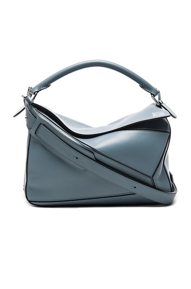 Loewe Puzzle Bag in Stone Blue