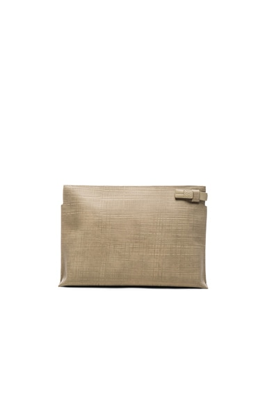 Loewe Pouch Clutch in Stone