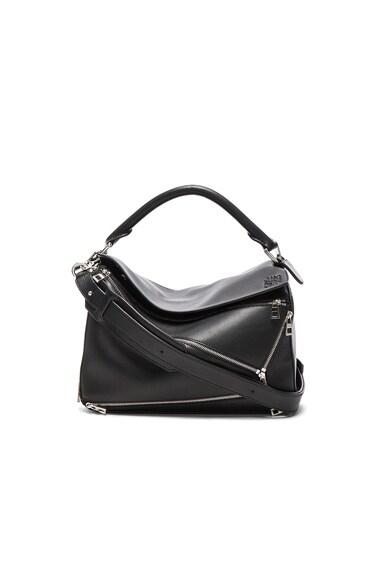 Loewe Puzzle Zips Bag in Black