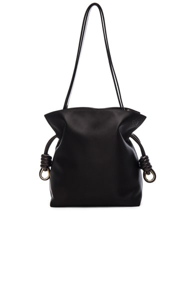 Loewe Flamenco Knot Small Bag in Black Satin