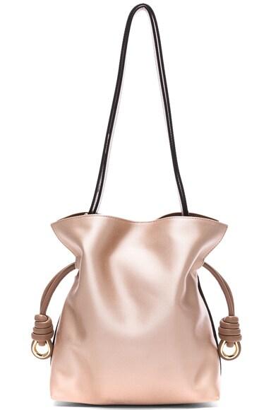 Loewe Flamenco Satin Knot Small Bag in Sand & Hazelnut