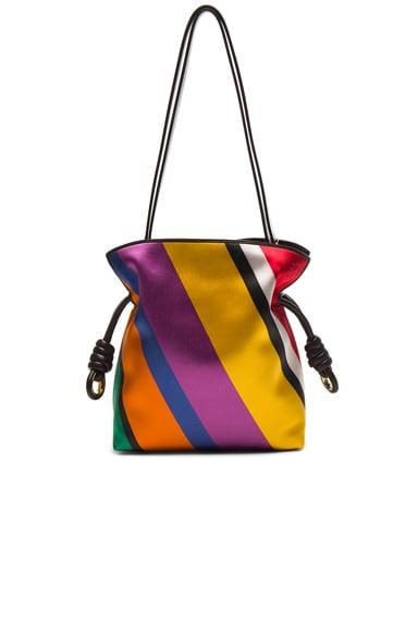 Loewe Flamenco Knot Small Stripe Bag in Multicolor