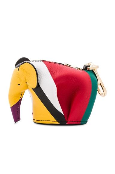Loewe Elephant Charm in Multicolor