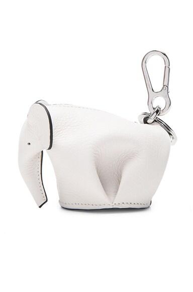 Loewe Elephant Charm in Soft White