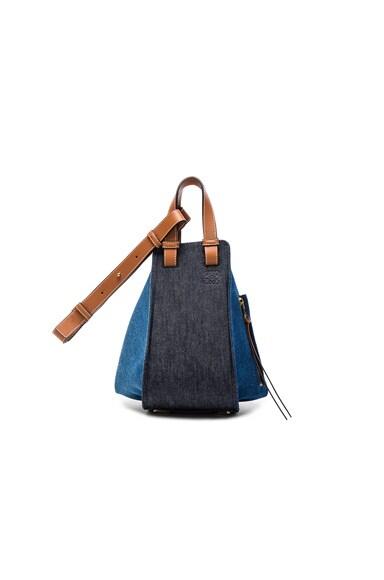 Loewe Hammock Small Bag in Denim & Tan
