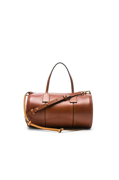 Loewe Barrel Small Bag in Dark Tan