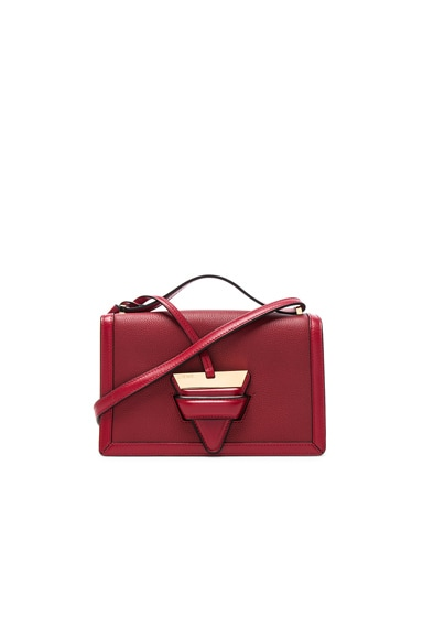 Barcelona Small Red Bag In Leather