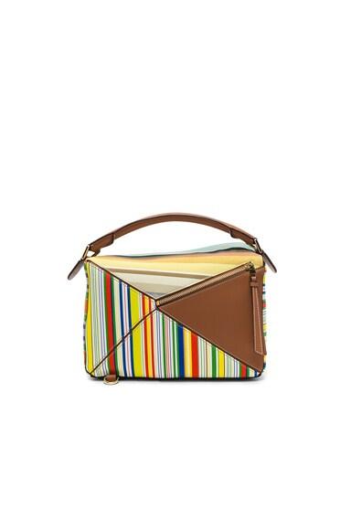 Striped Puzzle Bag