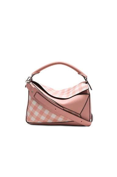 Gingham Puzzle Bag