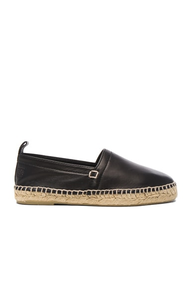 Loewe Nappa Leather Espadrilles in Black