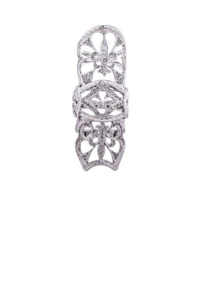 Loree Rodkin Double Royal Fleur-de-Lis Ring in Silver