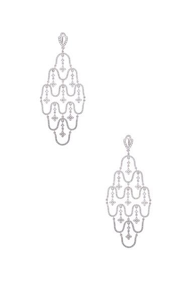 Loree Rodkin Wave Chandelier Earrings in Silver