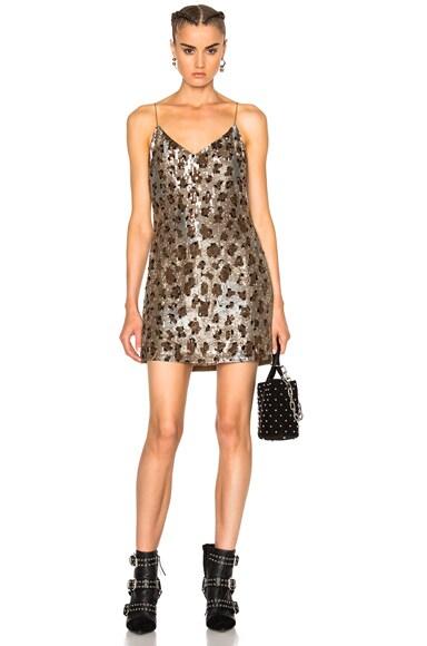 LPA 63 Dress in Leopard Sequin