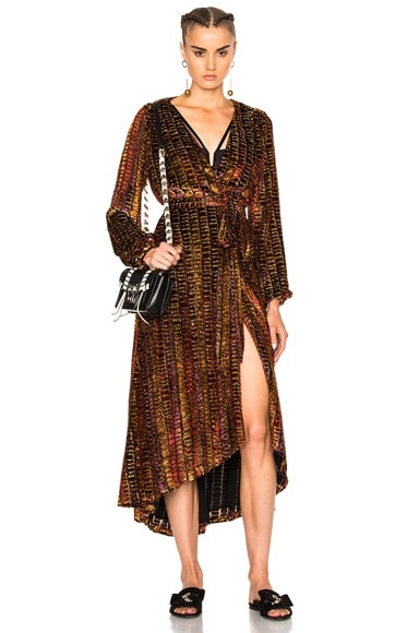 LPA 70 Dress in Dotty Velvet