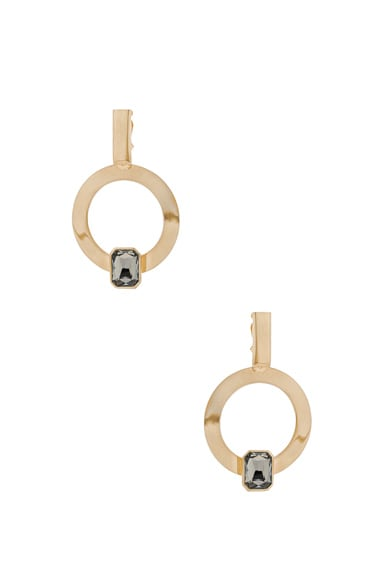 WASSON x LPA for FWRD Hoop Earrings with Crystal in Gold Plated