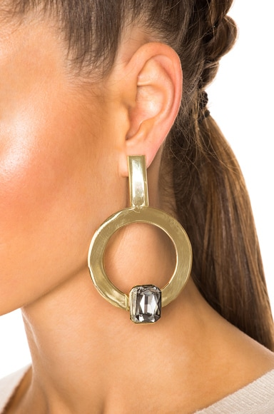 for FWRD Hoop Earrings with Crystal