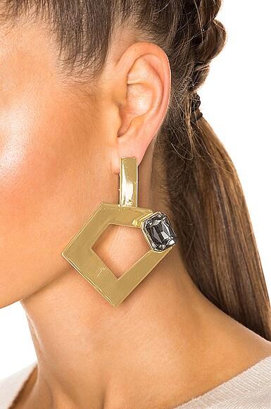 for FWRD Penta Hoop Earrings with Crystal