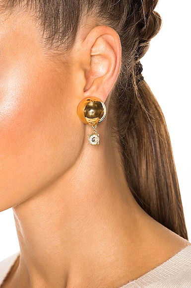 for FWRD Sphere Stud Earrings with Crystal