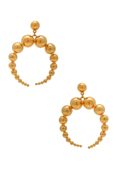 WASSON x LPA for FWRD Crescent Sphere Earrings in Gold Plated