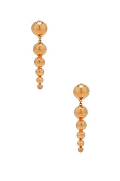 WASSON x LPA for FWRD Drop Sphere Earrings in Gold Plated
